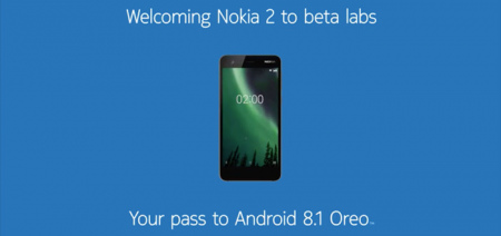 Nokia 2 Android 8.1 Oreo beta