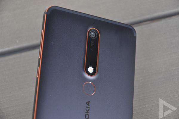 Nokia 6.1 vingerafdrukscanner