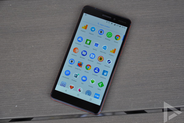Nokia 6.1 menu