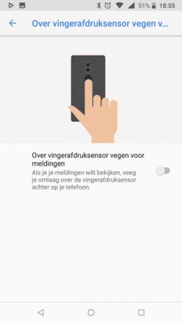 Nokia vingerafdrukscanner