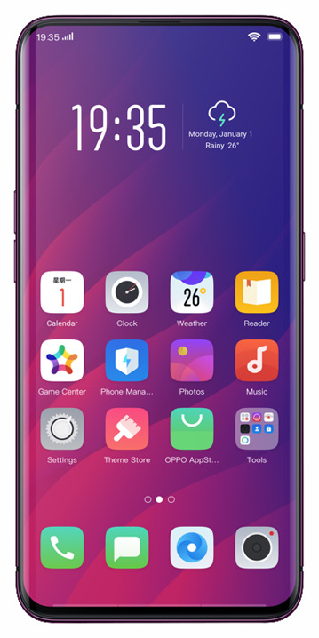 Oppo Find X Interface