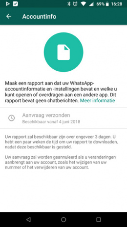 WhatsApp accountinfo