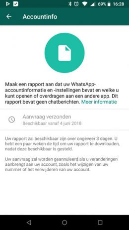 WhatsApp accountinfo