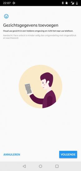 OnePlus 6 gezichtsontgrendeling