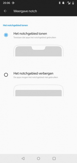 OnePlus 6 notch