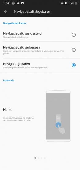 OnePlus 6 veegbewegingen