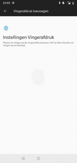 OnePlus 6 vingerafdrukscanner