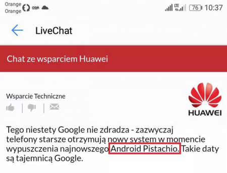 Android Pistache Huawei