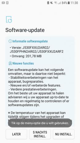 Galaxy J5 2017 beveiligingsupdate juni 2018