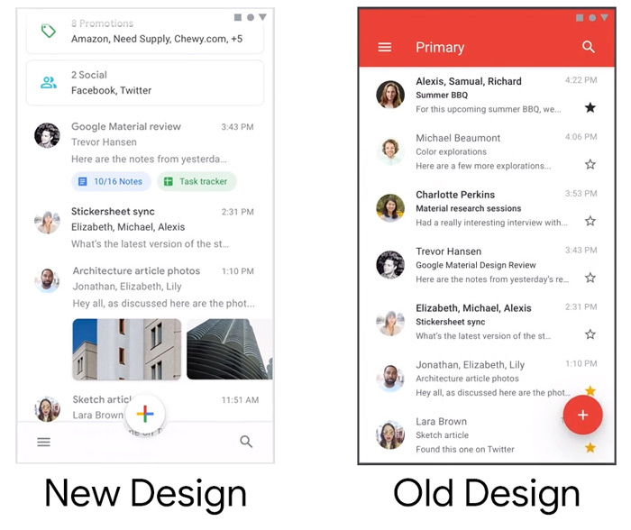 Gmail wit design
