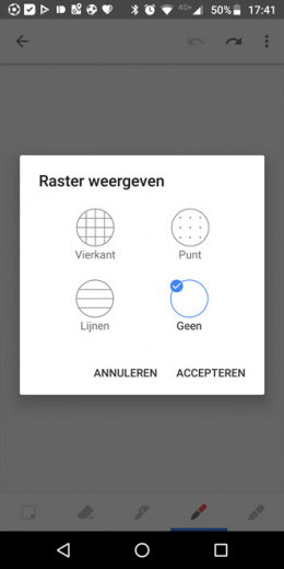 Google Keep rasterweergave