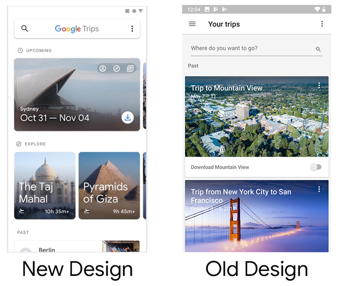 Google Trips wit design