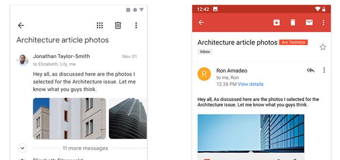Screenshots tonen mogelijk nieuw redesign voor Google Maps, Gmail en Foto's-app