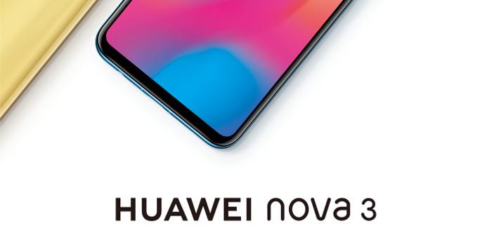 Nieuwe Huawei Nova 3 te zien in officiële teaser: vier camera's en een notch