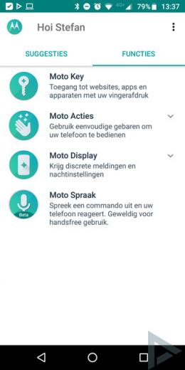 Moto Actions app
