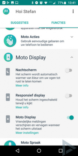 Moto Display tips