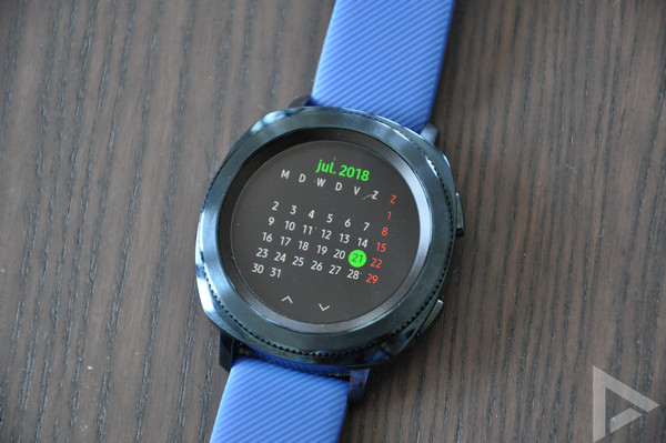 Samsung Gear Sport agenda