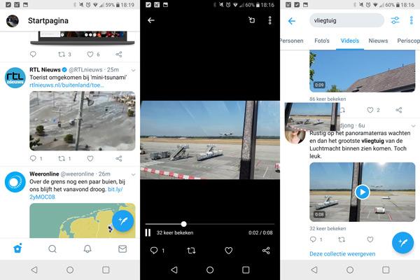 Twitter video navigatiebalk