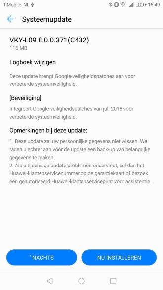 Huawei P10 8.0.0.371 (C432)