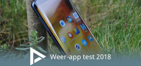 Weer-app test 2018