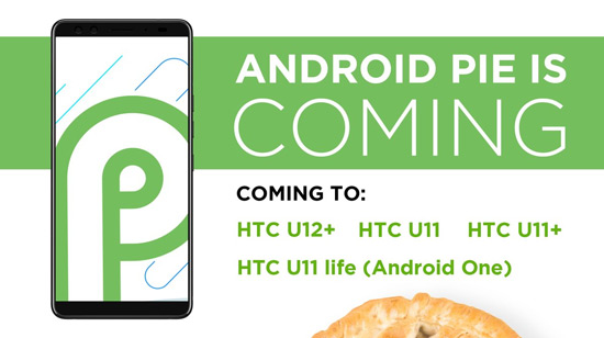 Android Pie HTC