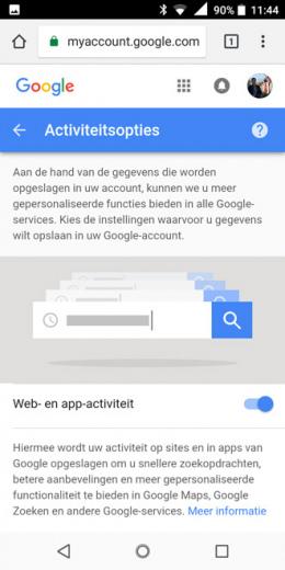 Google locatie bijhouden