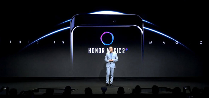 Honor laat Honor Magic 2 met pop-up camera en 'Magic Charge' zien