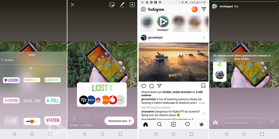 Instagram Stories delen met sticker