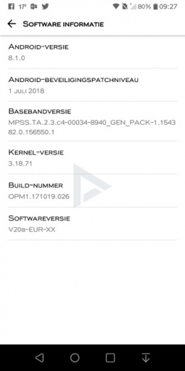 LG Q6 Android 8.1 oreo