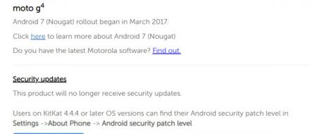 Moto G4 updates