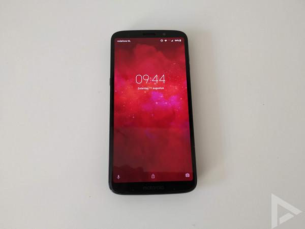 Moto Z3 Play lockscreen