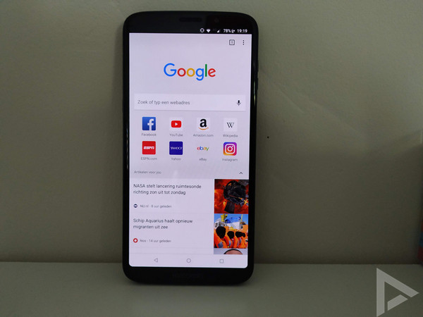 Moto Z3 Play browser