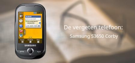 De vergeten telefoon: Samsung Corby S3650