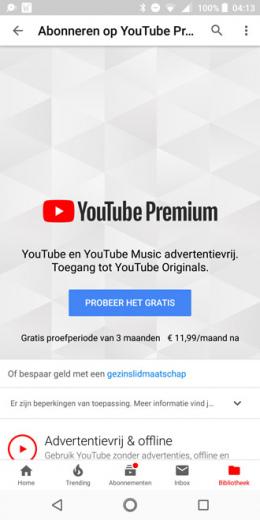 YouTube Premium Nederland