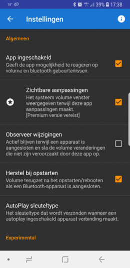 Bluetooth Volume Control