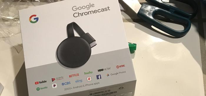 Derde generatie Chromecast met vernieuwd design in winkel gespot
