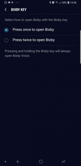 Galaxy Note 9 Bixby knop