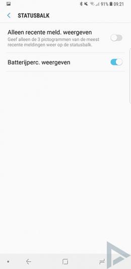 Galaxy Note 9 Meldingen