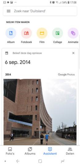 Google Foto's 4.0 assistent
