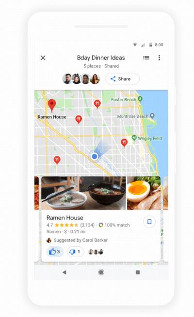 Google Maps groepsplannen