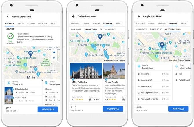 Google Maps hotelinformatie