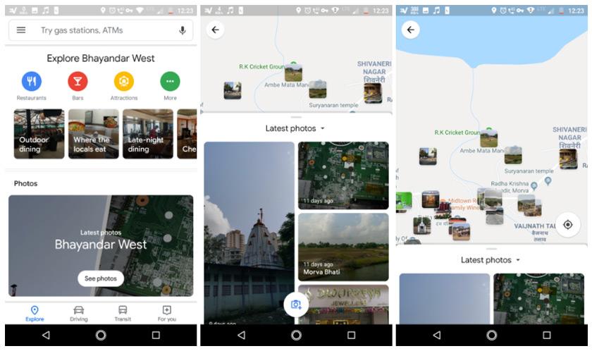 Google Maps verkennen foto's