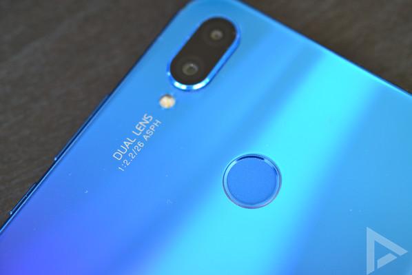 Huawei P Smart Plus vingerafdrukscanner
