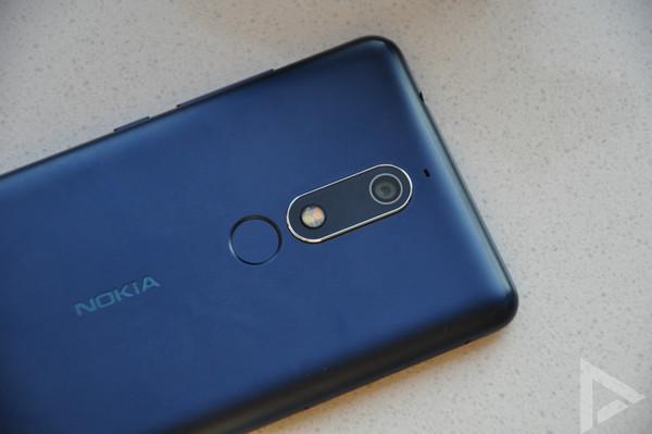 Nokia 5.1 vingerafdrukscanner