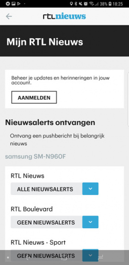 RTL Nieuws app notificaties
