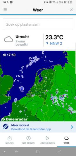 RTL Nieuws app weer