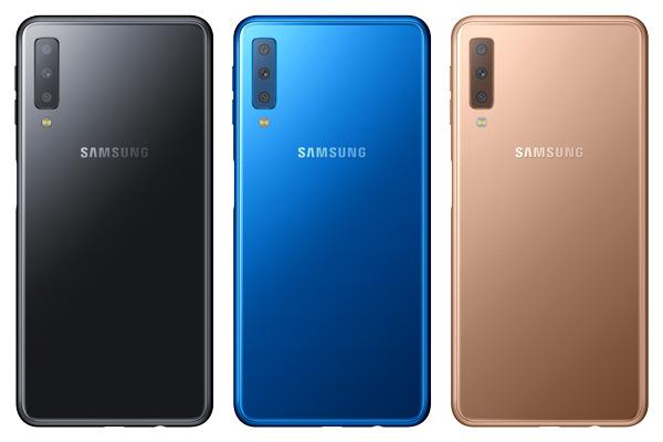 Samsung Galaxy A7 2018 achter