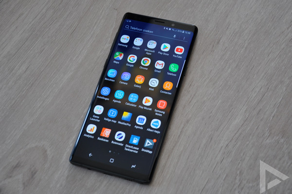 Samsung Galaxy Note 9 menu