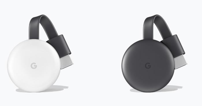 Chromecast 3 wit zwart