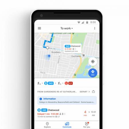Google Maps live locatie bus